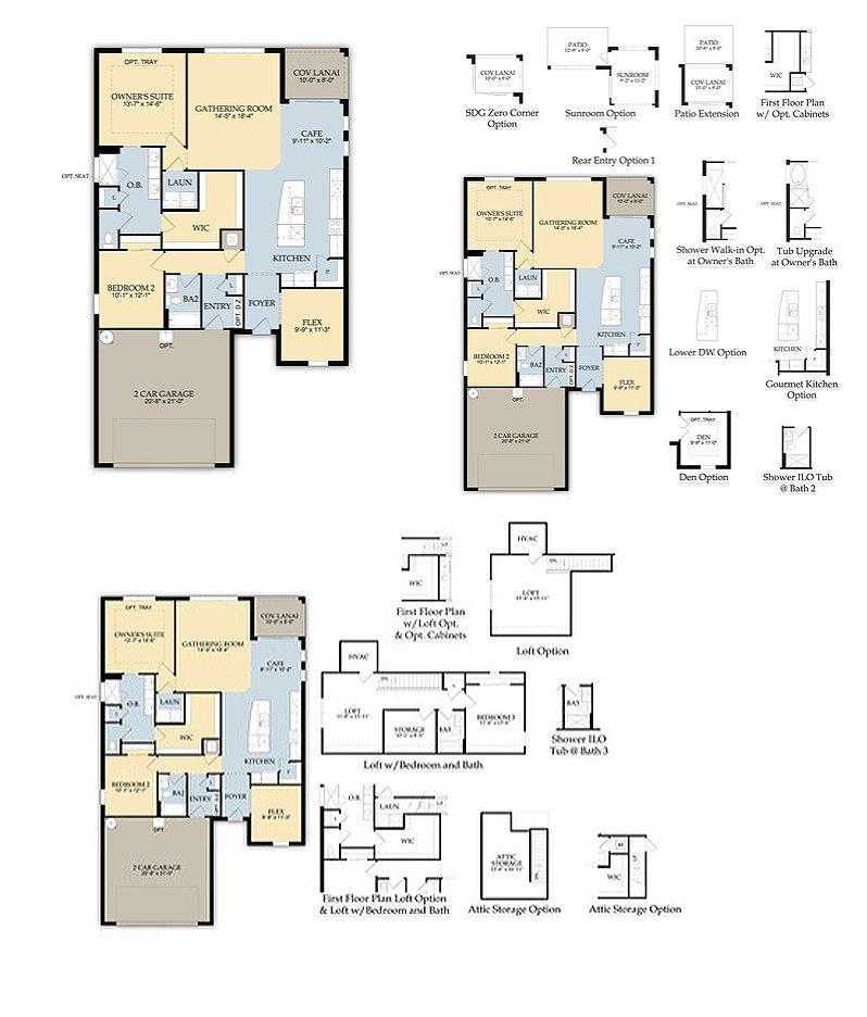 Sandhill preserve on palmer ranch new sarasota homes for Castle rock floor plans