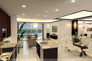 Waterfront at Main Street - Barbados Floor Plan Rendering